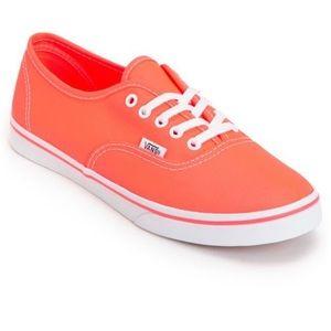 Vans Classic Authentic Neon Coral sneaker shoes